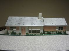 Vintage MARX Tin Litho Ranch Style Dollhouse 1950's with Furniture