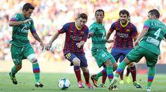 FC Barcelona, Messi conduciéndo el balón y Cesc ovservándolo. | FC Barcelona 7-0 Levante. [18.08.13] FOTO: MIGUEL RUIZ - FCB