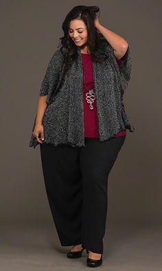 Diamond Duster & Wide Leg Venus Pants / MiB Plus Size Fashion for Women / Fall Fashion http://www.makingitbig.com/product/4982