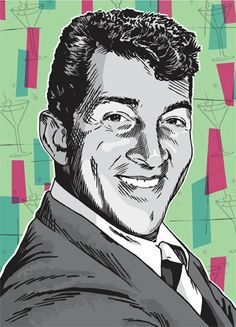 Dean Martin Pop Art Print 13x19 by RedRobotCreative on Etsy, $25.00