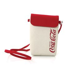 "Officially Licensed Coca -Cola Pre -1910 Canvas Small Cross Body Bag. Measures Approx: 3.75""(L) 1""(W) 6"" (H). Officially licensed product. Quality sturdy canvas material. Detachable shoulder strap. Secure magnetic clasp closure."