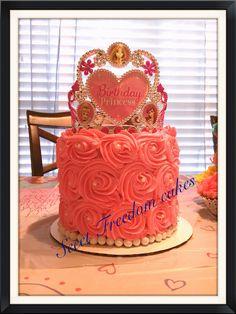 Disney princess rose cake