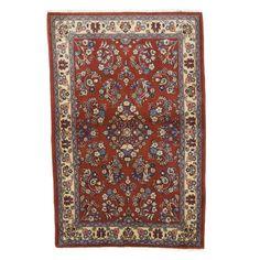 """Sarouk Collection Persian Rug, 3'6"""" x 5'3"""""""