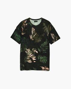 6d54634c Image 6 of TROPICAL T-SHIRT from Zara Tropical, Zara, Colours, Mens