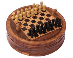 Mini Kids Wooden Chess Set Board Box Wood Gift Kids Toy Traditional Classic NEW