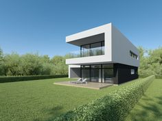 Individual modern Architectural design and concepts. Good House, Architecture Design, House Plans, House Ideas, Villa, Construction, Exterior, How To Plan, Mansions