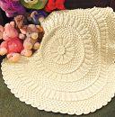 Lille Matelasse Circular Blanket - free pattern
