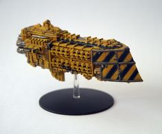 BATTLE FLEET GOTHIC space ship. Galaxy Mass Conveyor transport. - £25.00. Set includes one Resin Transport ship. Base not included. Painted model for display only. GW ship for scale purposes only. Any Games Workshop parts seen (Launch bays) are NOT included in the set. Any questions, just ask :) 303018256806