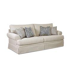 Tanzania Queen Sleeper   Skirted Sofa - Bernie And Phyls