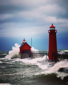 November Storm in Grand Haven, Michigan - 5 x 7 or larger color print