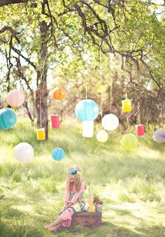 Paper lantern can make even a day camp picnic lively.  (Hint:  No flames pls.  Orders of Smokey the Bear)