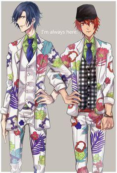 UtaPri ~~ Otoya and Tokiya in their Prince Summer 2014 outfits