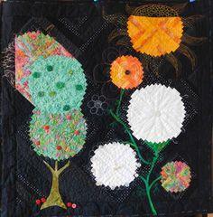 """O – jak Ogród - inspiracja Anne Gailhbaud """"Party Time"""" z Burda-Patchwork 2004…"""
