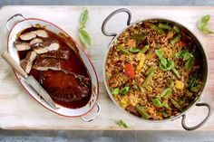 Jamie Oliver 15 Minute Meals - Glazed Pork with Cajun Style Pepper Rice