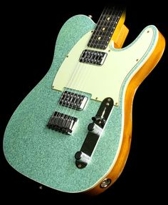Fender Custom Shop Double TV Jones Telecaster Relic Seafoam Green Sparkle