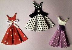 enfeites mini vestidinhos para scrapbook