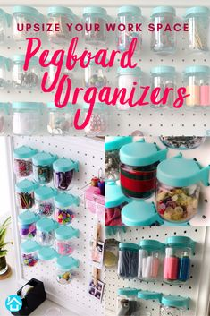 A new year is coming up soon. Are you ready for the end of year cleaning up and organizing craft supplies for the new projects you have planned? Pegboard Craft Room, Metal Pegboard, Pegboard Organization, Craft Rooms, Organization Ideas, Organizing, Art Supplies Storage, Craft Supplies, Working Area