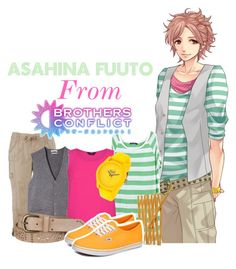 """Asahina Fuuto from Brothers Conflict!"" by drinkdionysus ❤ liked on Polyvore featuring maurices, MANGO, Everlast, L. Erickson and Vans"