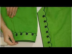 Very stylish salwar mohri design full making / Kataria Sisters Chudidhar Neck Designs, Salwar Neck Designs, Churidar Designs, Kurta Neck Design, Neck Designs For Suits, Sleeves Designs For Dresses, Dress Neck Designs, Sleeve Designs, Blouse Designs