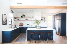 L-shape layout with island; Trends in Kitchen Appliances - Juniper Home Evergreen House, Historic Homes, Mudroom, Ikea, Upholstery, Kitchen Appliances, Kitchens, New Homes, Flooring