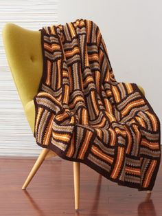 Parquet Motifs Afghan - free pattern