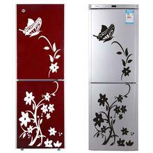 fekete vagy fehér szőlő virág matricák zooyoo8308 hűtőszekrény nem mérgező fali…