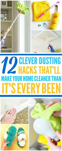 These 10 brilliant and easy dusting hacks are THE BEST! Now I have some GREAT ways to clean my home! These cleaning tips and hacks make cleaning my house so much quicker and easier! Deep Cleaning Tips, House Cleaning Tips, Cleaning Solutions, Spring Cleaning, Cleaning Hacks, Cleaning Supplies, Cleaning Crew, Cleaning Schedules, Daily Cleaning