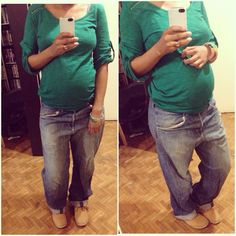 Boyfriend Jean and Timberland / Fashion and Pregnancy - Mode et Grossesse - Outfit Timberland Style, Timberland Fashion, Jeans Boyfriend, Ootd, Baby Fever, Bermuda Shorts, Capri Pants, Suits, Single Life