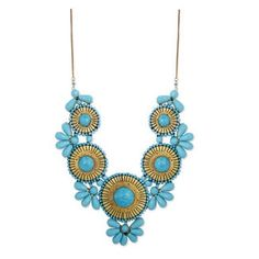 Turquoise Statement Necklace #shopzhush just like Lara Spencer's necklace on Good Morning America today