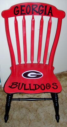 Georgia Bulldog Chair | Artistic Chairs | Pinterest | Georgia Bulldogs,  Chairs And Bulldogs