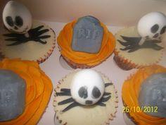 jack skelligton,  halloween, cupcakes