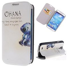 Pretty Rabbits Pattern PU Leather Full Body Case with Stand and Card Slot for Samsung Galaxy S4 I9500 | MiniInTheBox