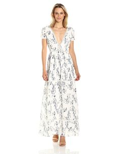 Lucca Couture Women's Ladder Trim Tiered Printed Maxi Dress *** For more information, visit image link. (This is an affiliate link and I receive a commission for the sales)