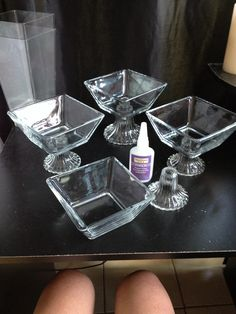 DIY is always better! Glass candy bar dishes came out to on Decoration Evenementielle, Diy Party Decorations, Dollar Tree Decor, Dollar Tree Crafts, Diy Home Crafts, Diy Arts And Crafts, Diy Centerpieces, Dollar Tree Centerpieces, Glass Candy