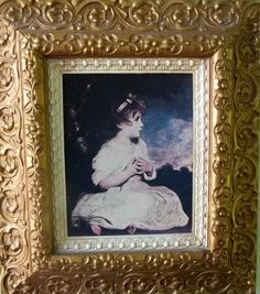 home interiors gold picture frame very ornate age of innocence no 1791