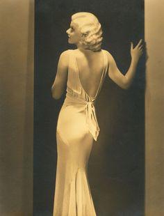 Jean Harlow, 1930's, bias dress
