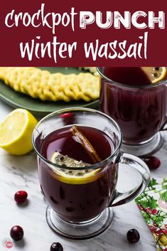 """Start your crockpot and serve a warm, spicy crockpot winter Wassail punch that is festive with minimal effort. Add bourbon for holiday """"spirit. Easy Drink Recipes, Best Cocktail Recipes, Punch Recipes, Yummy Drinks, Smoothie Recipes, Smoothies, Fancy Drinks, Healthy Drinks, Fall Recipes"""