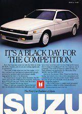 Isuzu Impulse Turbo My first car! Oh the memories! American Graffiti, Auto Retro, Retro Cars, Classic Japanese Cars, Classic Cars, Volkswagen New Beetle, Volkswagen Golf, Vintage Advertisements, Vintage Ads
