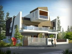 A great ultra modern bungalow design gives a complete new style statement to your dream project. Bungalow style means different things to different people and is therefore not a particularly pre… Bungalow Haus Design, Bungalow Interiors, Modern House Design, Modern Houses, Villa Design, Terrace Design, Bungalows, Modern Bungalow Exterior, Ultra Modern Homes