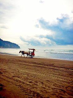 Parangtritis beach.The location is at Yogyakarta city, Central Java,Indonesia.