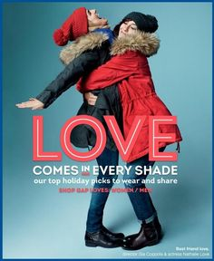 Gap - Gap Holiday 2012 Love Comes in Every Shade Campaign