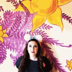 Rebekah Denard Tangled Restroom Wall