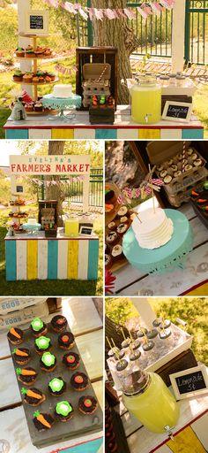 Farmer's Market Themed Birthday Party | The Little Umbrella