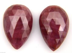 The photo does not show the actual size they are enlarged for better view, actual goods are small. Ruby Gemstone, Natural Ruby, Pear, Gemstones, Rose, Nature, Pink, Naturaleza, Gems
