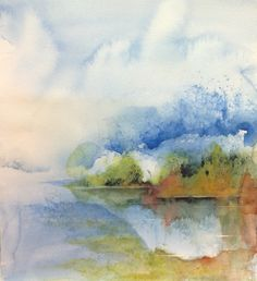 Vinterkyla Artist Seija Riittar #watercolor #art #painting # winter