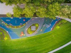Dorrian Green — MKSK Studios Park Landscape, Landscape Plans, Urban Landscape, Landscape Architecture, Park Playground, Playground Design, Children Playground, Garden Design Plans, Backyard Garden Design