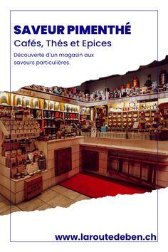 Saveur Pimenthé est une boutique située à Lausanne proposant un assortiment de thé, de café et d'épice. #lausanne #suisse #the #cafe #epice Lausanne, Le Palais, Boutique, Coffee Roasting, Wish Shopping, Switzerland, Fine Dining