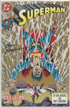 Superman 71 Signed By Brett Breeding Lord Satanus Lois Lane Supergirl Blaze DC DC Comics