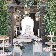 Pretty Vintage Rentals   Elegant vintage dessert table   Southern California Wedding Rentals