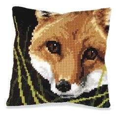 Little Fox Quickpoint Pillow Top Kit- Needlework Projects, Tools & Accessories